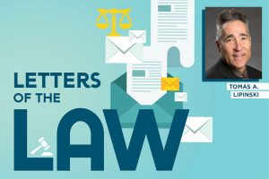 American Libraries Letters of the Law logo